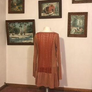 Burnt Orange Altar'd State Tunic Shirt